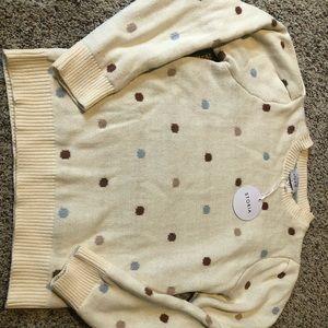 New w/ tags Vici polka dot sweater size medium